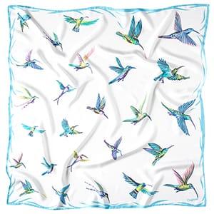 Kolibříci - bílý šátek