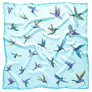 Kolibříci - modrý šátek