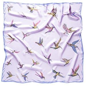 Kolibříci - fialový šátek